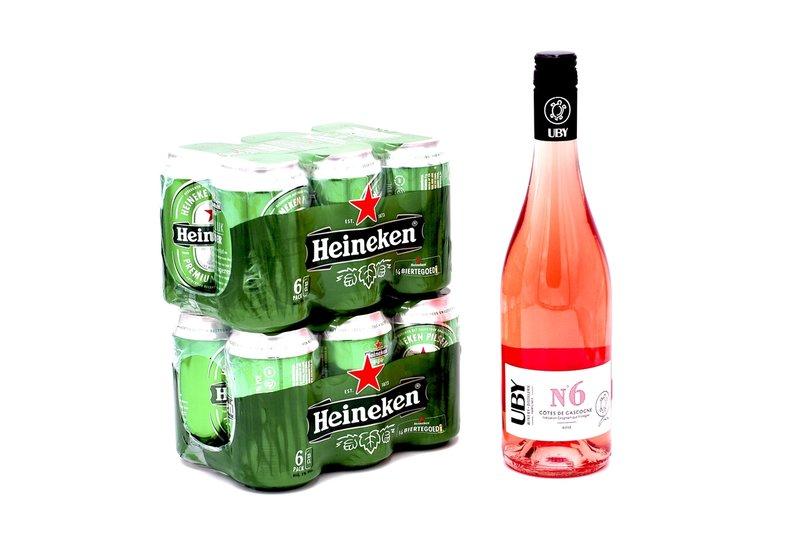 Heieneken & Uby6 Rosé